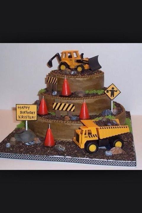 Tonka Truck Birthday Cake Truck Birthday Cakes Themed