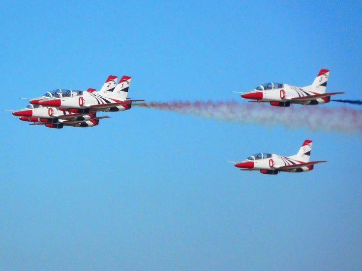 6 K-8E Karakorum of the Silver Stars aerobatic team.