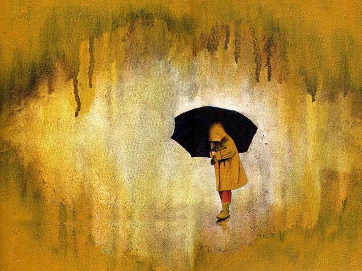 A personal favorite from my Etsy shop https://www.etsy.com/listing/107167703/rain-art-print-titled-yellow-rain