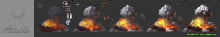 How to paint Explosions tutorial by JesusAConde.deviantart.com on @DeviantArt