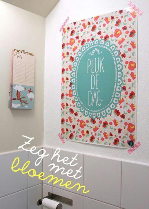 Pluk de dag poster by studio klein geluk