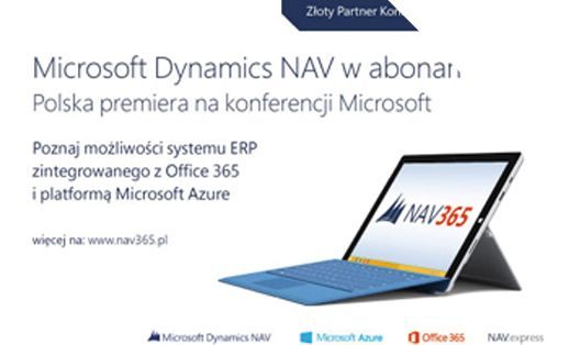 12 maja, w trakcie Konferencji Dynamics dla Biznesu organizowanej przez firmę Microsoft, odbędzie się oficjalna, polska premiera systemu ERP – Microsoft Dynamics NAV w abonamencie. Konferencja to miejsce, w którym spotkają się eksperci Microsoft, specjaliści, partnerzy, a także klienci Microsoft Dynamics NAV, AX i CRM....Podziel się