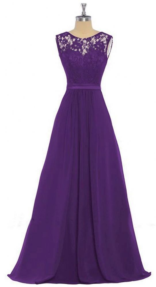ddd6804ae182a Feminine full length lace chiffon dress in a beautiful Cadbury purple  colour Beautiful sweetheart bodice with a pretty floral lace overlay The  bodice