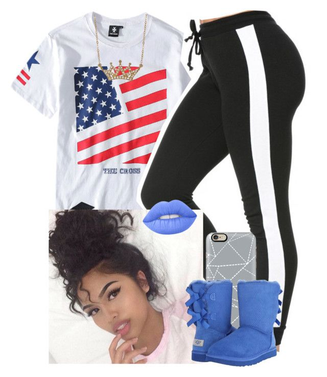 """""""4th of July sleepover wid Sus """" by saucinonyou999 ❤ liked on Polyvore featuring Chicnova Fashion, Casetify, UGG Australia, Lime Crime and Lord & Taylor"""