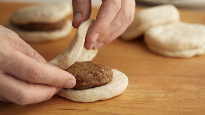 Sausage Stuffed Biscuits with Cranberry Sauce Recipe - Pillsbury.com