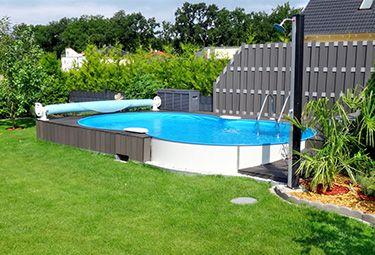 Aufbau Von Stahlwand Pools In 9 Schritten Garten Pool Selber Bauen Gartenpools Pool Im Garten