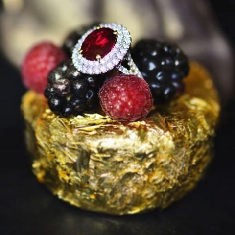 Here in New Orleans, our partner the Windsor Court Hotel is paying homage to its namesake, Queen Elizabeth II, as it commemorates her majesty's official 90th birthday! $90,000 dessert for the Queens 90th Birthday ~Ruby and Diamond Ring for sale by M.S. Rau Antiques   Rau Antiques has joined the Windsor Court to mark this momentous occasion by adding a