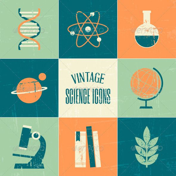 Google Finance Stock Quotes: Vintage Science Icons Collection