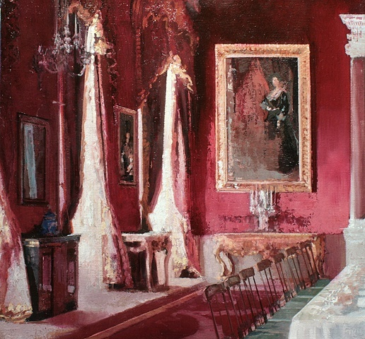 tim kent paints the red banquet hall
