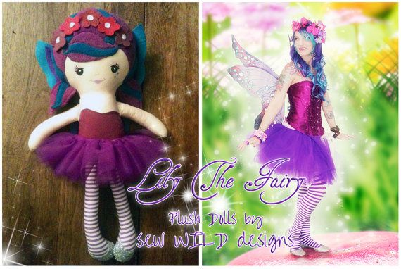 Lily The Fairy Plush Doll by LilysFairyShop on Etsy