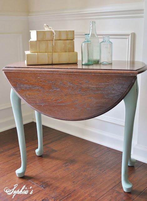 Sophia's: Duck Egg Blue (Annie Sloan Chalk Paint) with Briwax's Liming Wax top