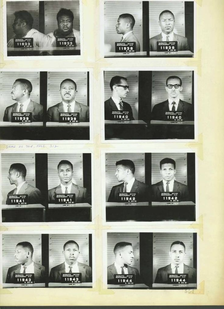 Civil Rights Mug Shots: Heroes Of The Montgomery Bus Boycott And Freedom Rides - Flashbak