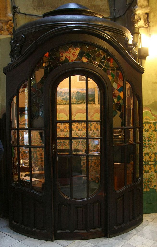 ... Housekeeper's cabin in Casa Francesc Cama - Art Nouveau in Barcelona | by Sokleine