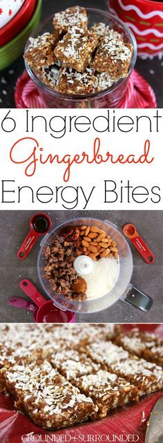 6 Ingredient Gingerbread Energy Bites | This easy no bake recipe will quickly become your favorite healthy snack especially during the holidays! Gluten-free dates, almonds, coconut, molasses, and pumpkin pie spice combine to create a clean eating, Paleo, 21 Day Fix, and vegan recipe that is perfect for families, kids and adults alike. Look no further for the best low carb Christmas dessert or snack!