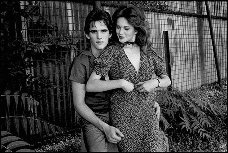 Matt Dillon and Diane Lane between takes, Rumble Fish, Tulsa, Oklahoma, 1982