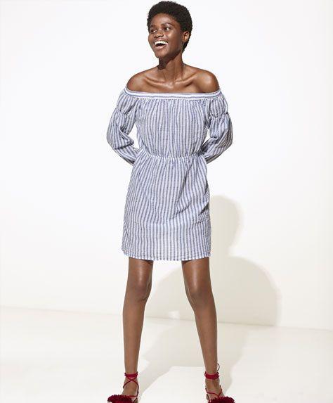 Oysho - Short striped dress