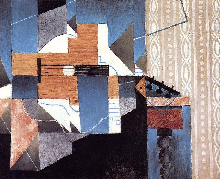 Guitar and Glasses (Banjo and Glasses) - Juan Gris - WikiPaintings.org
