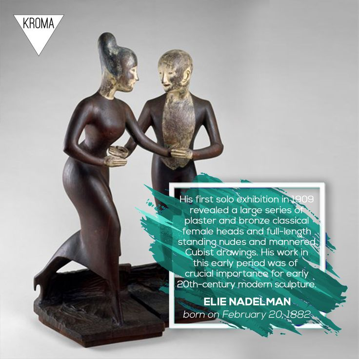 20/2 - Born Today: #ElieNadelman was a Polish-American sculptor, draughtsman and collector of folk art. #KROMA #Kromamagazine #KROMAborntoday #borntoday #Sculpture #Drawing