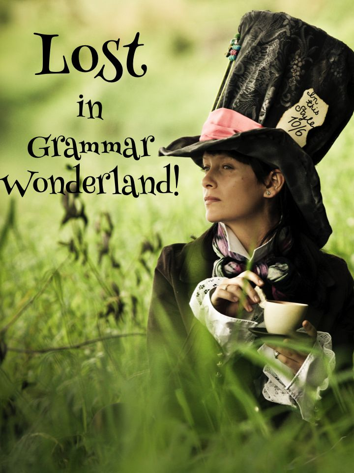 Lost in Grammar Wonderland! That's what grammar can feel like for kids, (and adults!). Find two great grammar freebies on this post, plus links to terrific grammar games. It's grammar made easy!
