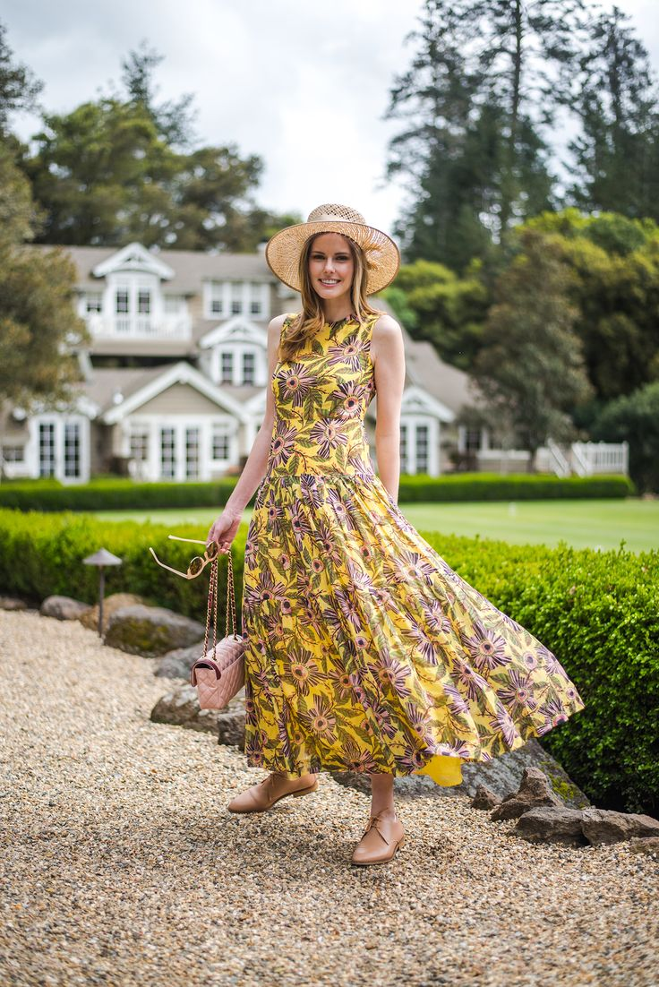 Miss USA 2011 Alyssa Campanella of The A List blog wears Red Valentino while visited Meadowood Napa Valley for her birthday