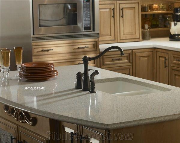 Zodiaq quartz surfaces antique pearl countertop kitchen for Zodiaq slab size