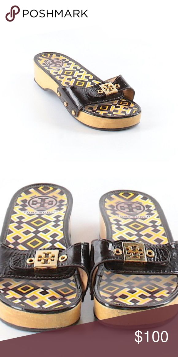 Tory Burch slip one  size 6.5 BROWN🔥SOLD🔥 Fits true to size ! Worn with a ton of life left! Get them in my Depop shop for less by following the link in comments. Please use your zoom on your device to view condition 😊Free Ship and 80 in my shop see comments Tory Burch  Shoes Sandals
