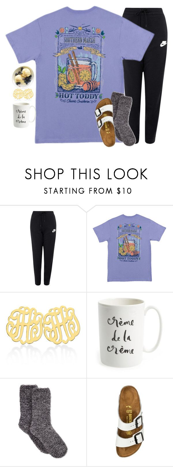 """crème de la crème"" by emmig02 ❤ liked on Polyvore featuring NIKE, Kate Spade, Charter Club and Birkenstock"