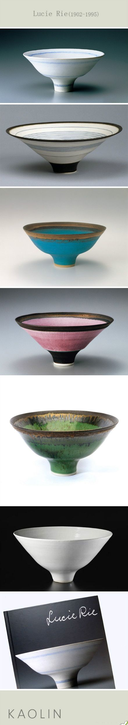 Lucie Rie. I think that I actually own one of her pieces...