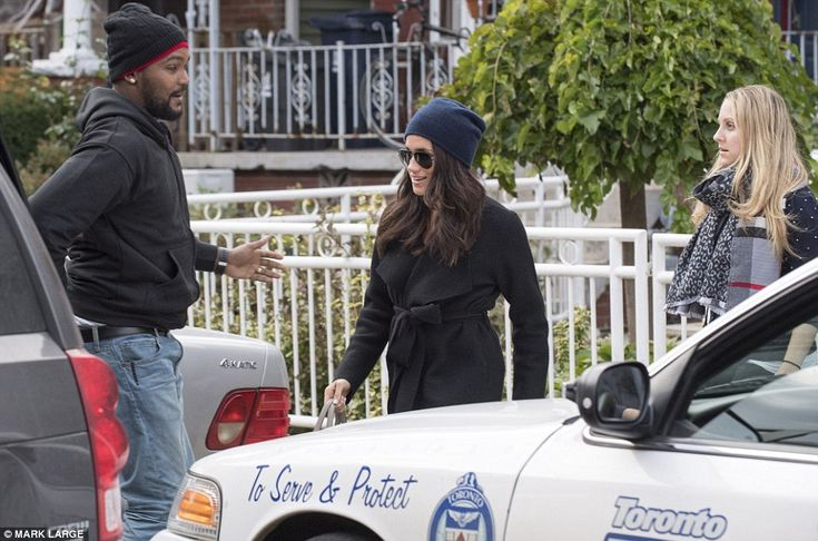 In the public eye: Harry's new girlfriend Miss Markle is pictured leaving her home in Toronto in Canada last Thursday - now she is in London