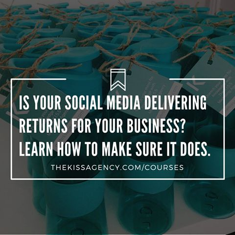 Register for our upcoming practical, hands-on course:  Social Media For Small Business 101,  visit http://www.thekissagency.com/courses for more information.