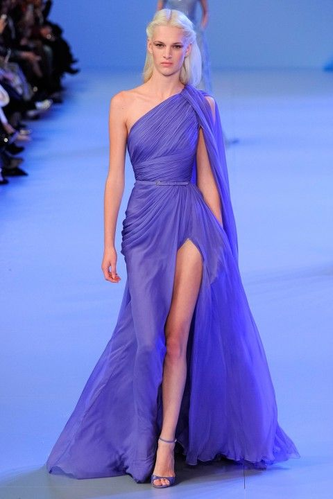 Elie Saab.  What is there not to like about this feminine, flowing, violet shade of dress