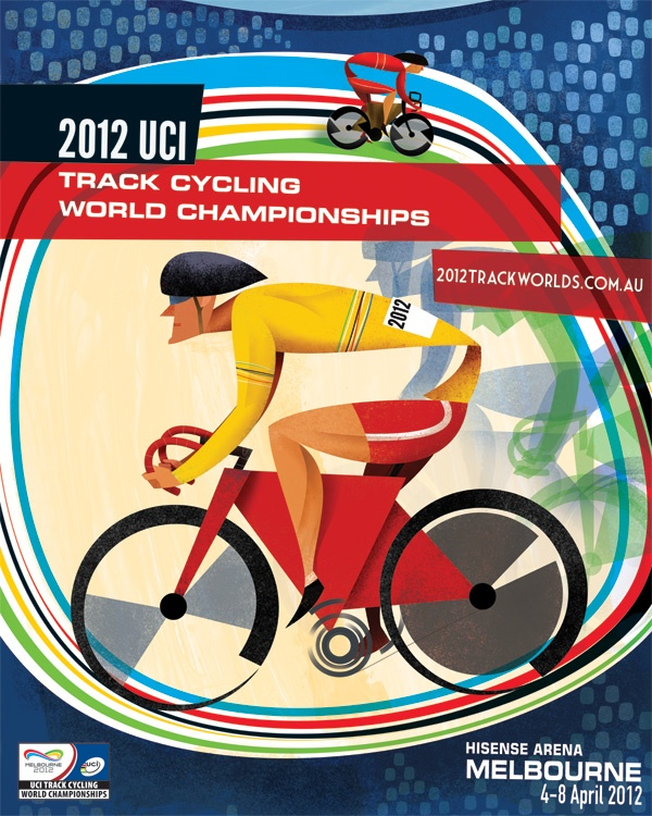 Chasing Rainbows Poster  Advertising, Graphic Design, Illustration -  UCI 2012 Track Cycling World Championships Poster