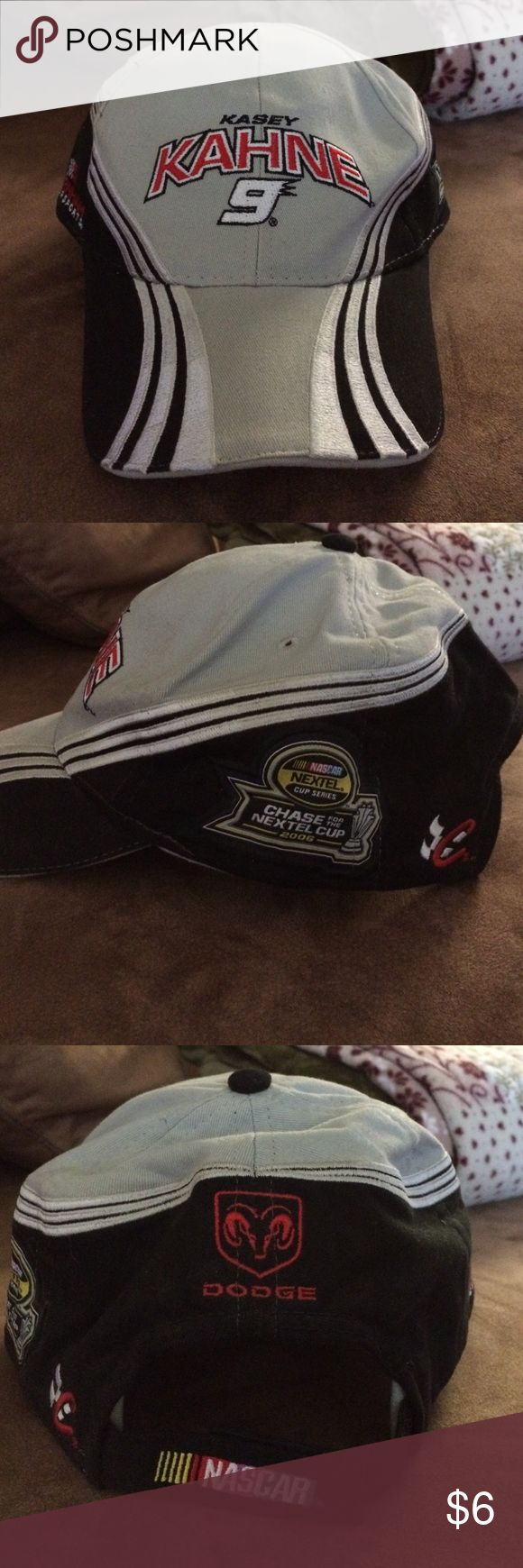 Brand new nascar hat Brand new Kasey Kahne #9 older hat but never worn   Black , grey and red MFG in US chase Authentics Accessories Hats