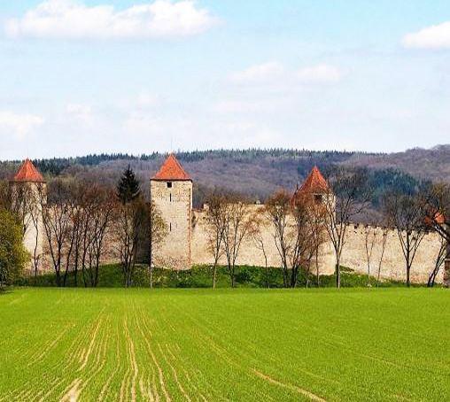 Veveří (South Moravia) gothic castle fortification, Czechia