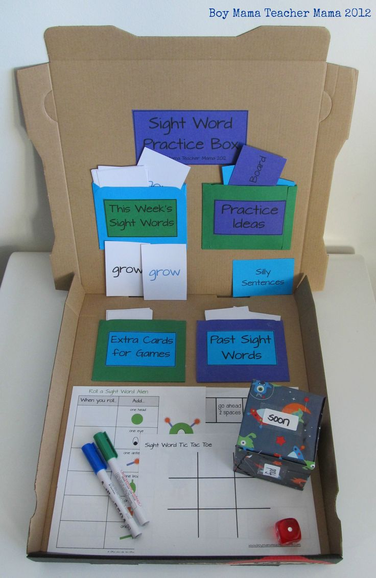 A clever and budget friendly idea for a DIY sight word practice box from Boy Mama Teacher Mama!