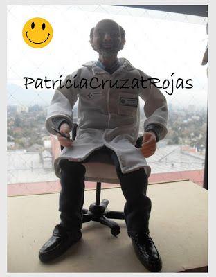 Patricia Cruzat Artesania y Color: Despacho Ginecólogo Jefe, un regalo especial para él... en Miniatura