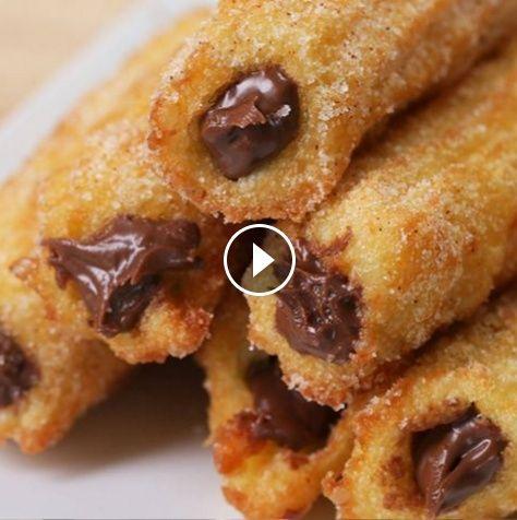 Churros rellenos de chocolate
