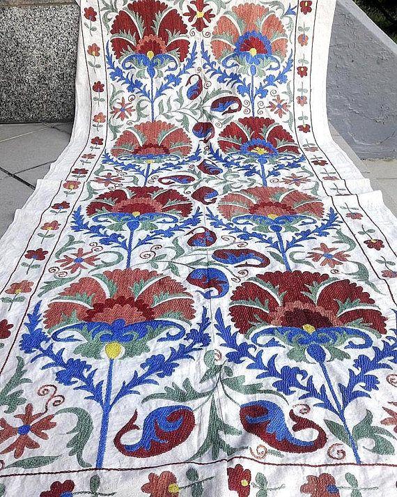 Suzani handmade from  Uzbekistan.Tablecloth Wall hanging