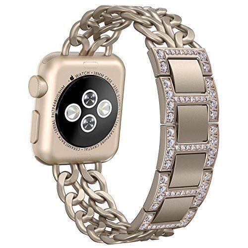 Apple Watch Band 38mm Premium Stainless Steel Bracelet Jewelry Retro Gold Women  #Kbrand