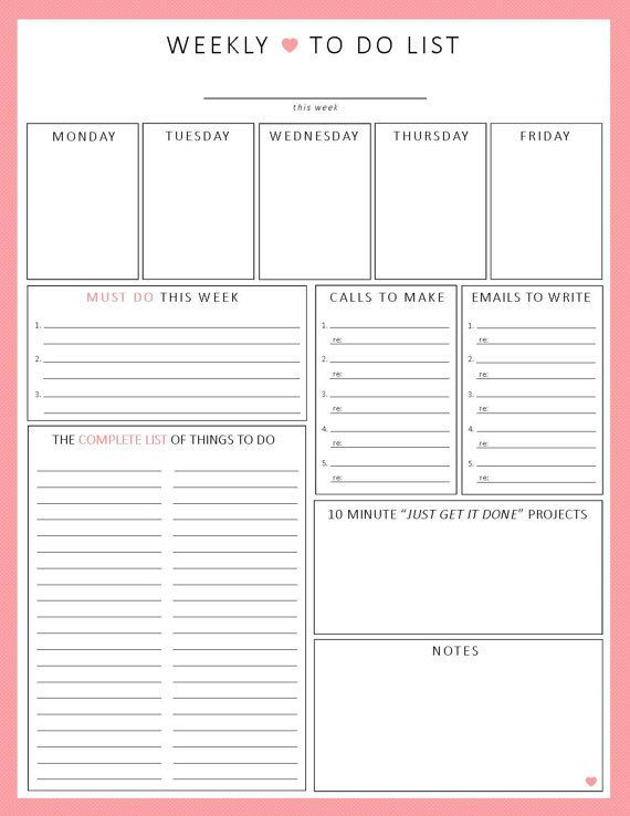 Best 25+ Week planner ideas on Pinterest Weekly planner, Weekly - minute sheet template