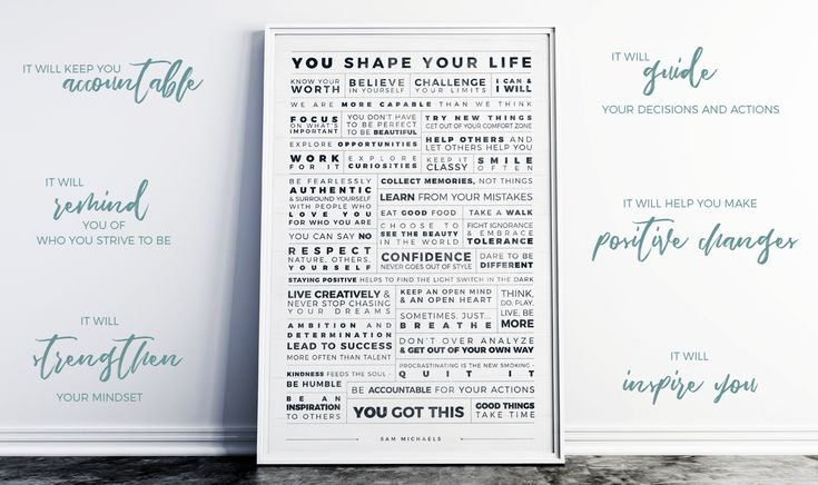 Manifesto Grid Personalized Print from Jibe Prints ~ be your own life coach all year round on a way to achieving your goals and dreams. #resolutions #goals #goalsetting #manifest #affirmations #positivethinking #positivequotes