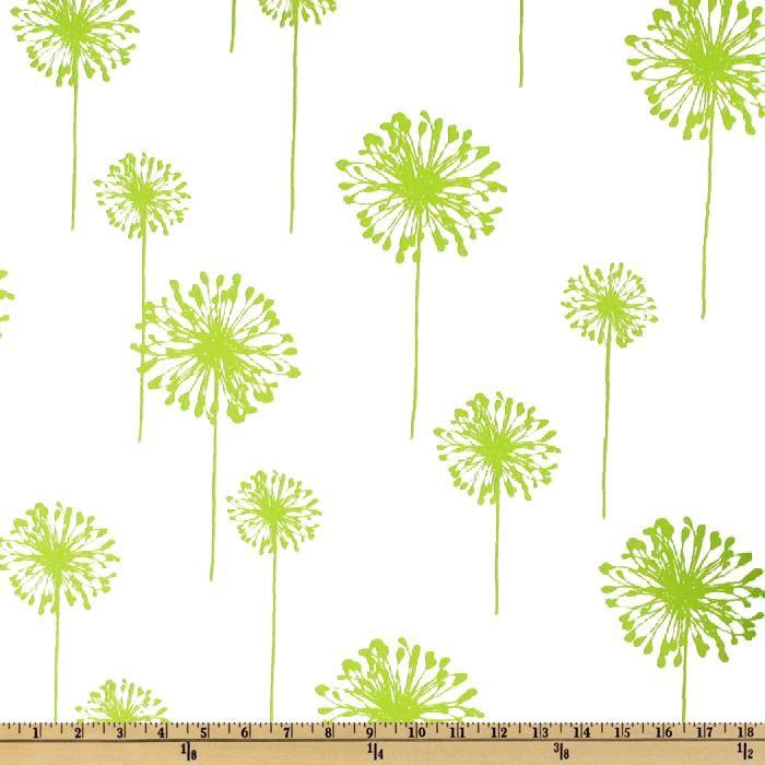 Premier Prints Dandelion White/Chartreuse