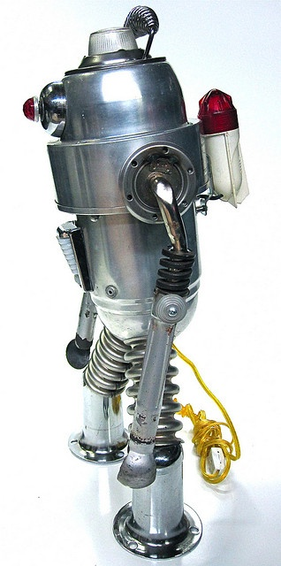 Mr Fog found object robot sculpture by ultrajunk