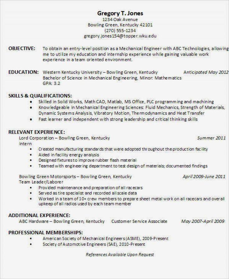 16 engineering resume format pdf ideas di 2020