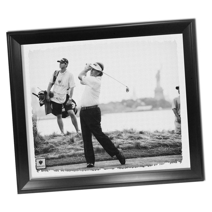 Phil Mickelson Framed Stretched 22x26 Canvas