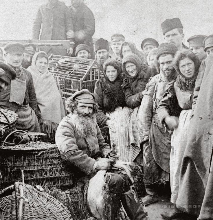 Marketplace in Warsaw, Poland ~ photo (probably) Benjamin West Kilburn, 1897,