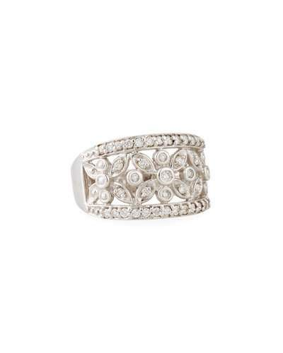 Diana M. Jewels 18k Domed Diamond Fashion Ring, Size 6