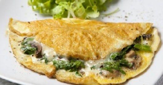 Receta rapida y facil de Omelette de espinacas. Como hacer un Omelette de espinacas, casero, sabroso y en pocos minutos. Delicioso Omelette relleno de espinacas rapido y facil.