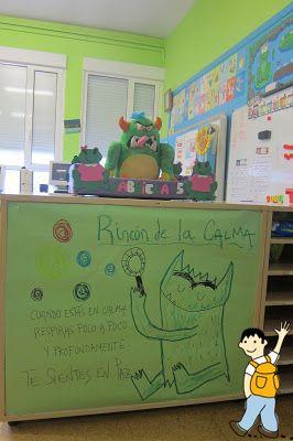 Rincón de la calma. Genial idea para trabajar con los alumnos en clase.