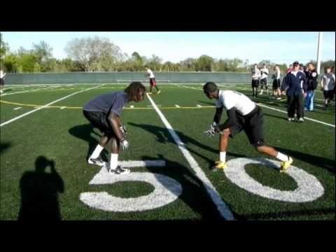 Leverage: Defensive Back 1 on 1 Session - YouTube
